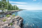 Blue water and blue skies can turn to gray skies and high waves&59&59&59; there`s no lack of drama when it comes to Lake Superior.